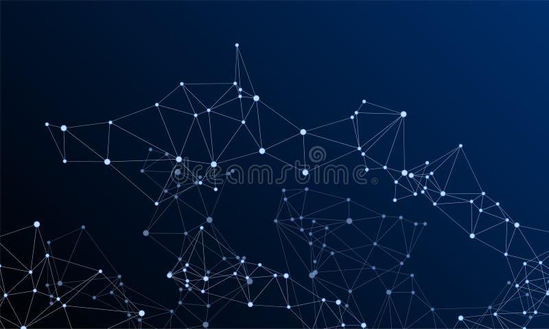 Gometric plexus struktury cybernetyczny pojęcie royalty ilustracja