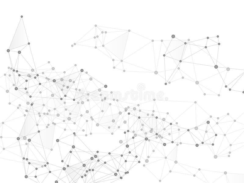Gometric plexus struktury cybernetyczny poj?cie ilustracja wektor