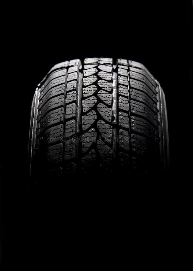 Gomma di automobile nera immagini stock