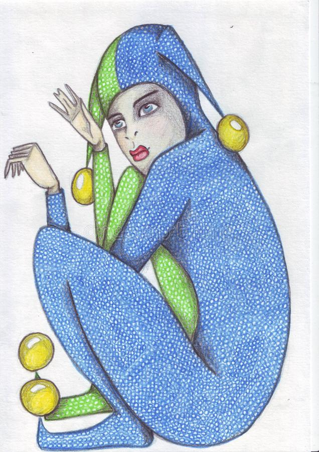 Gomma di matita fine di Clows X royalty illustrazione gratis