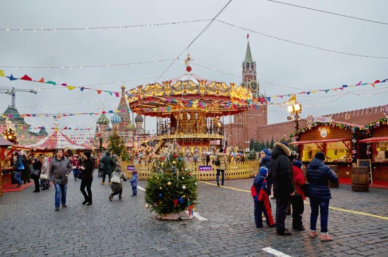 Gomma-giusto sul quadrato rosso a Mosca, Russia immagine stock