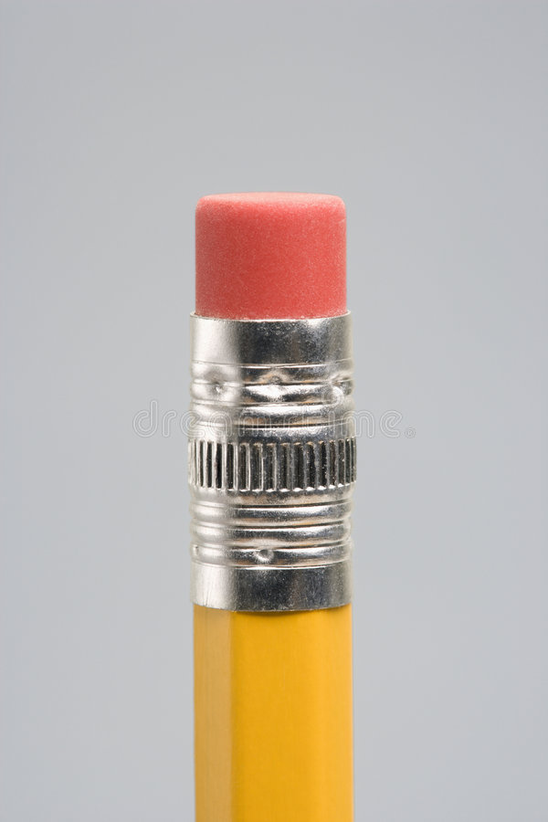 Gomme à effacer de crayon. image stock