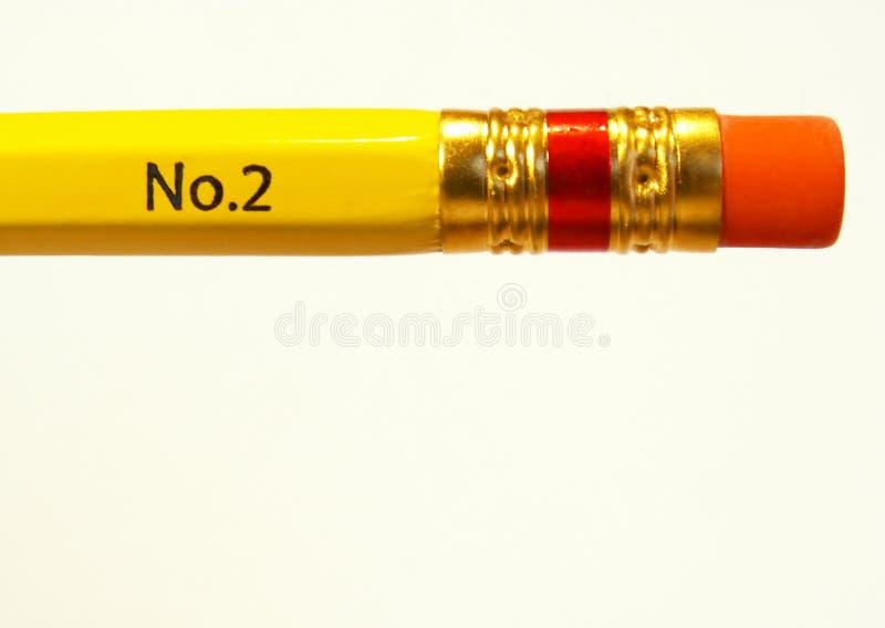 Gomme à effacer de crayon photo stock