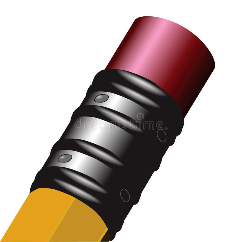 Gomme à effacer sur le crayon illustration stock
