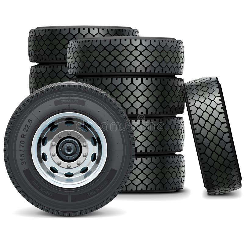 Gomme del camion di vettore illustrazione vettoriale