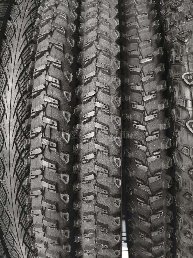 Gomme della bicicletta, primo piano fotografia stock libera da diritti