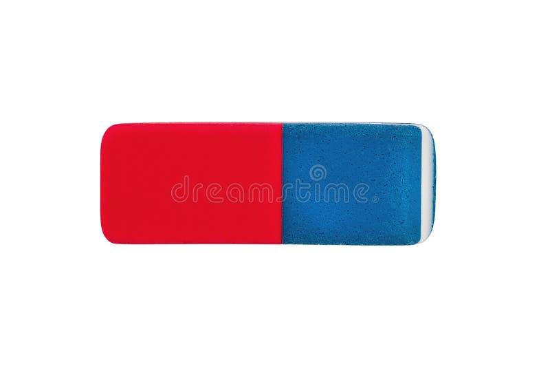 Gomme en caoutchouc rectangulaire simple pour le crayon et l'encre de stylo d'isolement sur le fond blanc photos libres de droits