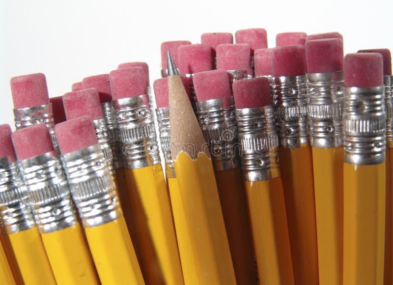 Gommes à effacer de crayon photo libre de droits