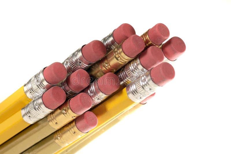 Gommes à effacer de crayon image stock