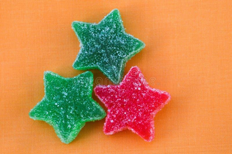 Gommes sous la forme d'étoiles image libre de droits