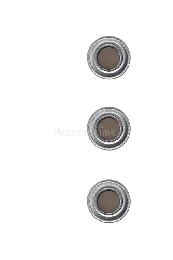 Gommini di protezione su un fondo bianco fotografia stock