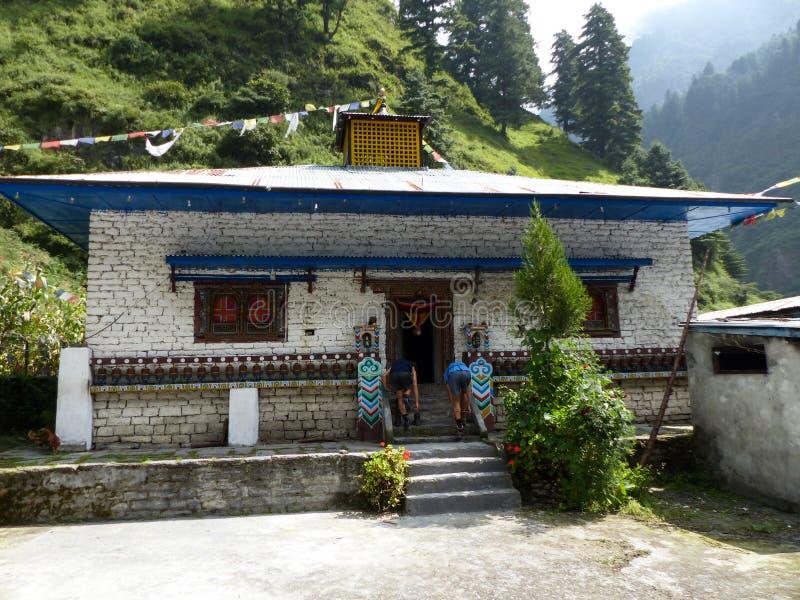 Gompa στο χωριό Thoche, Νεπάλ στοκ εικόνες με δικαίωμα ελεύθερης χρήσης