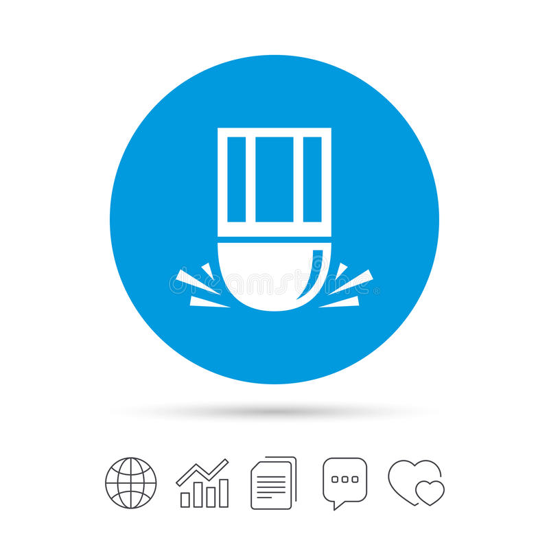 Gompictogram Wis het symbool van de potloodlijn vector illustratie