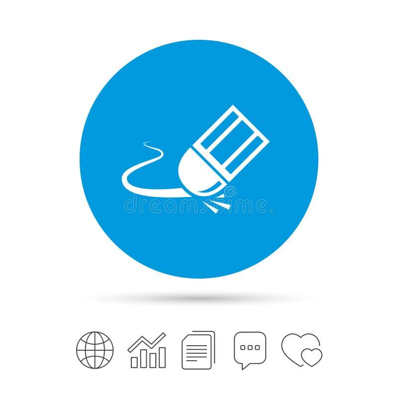Gompictogram Wis het symbool van de potloodlijn stock illustratie