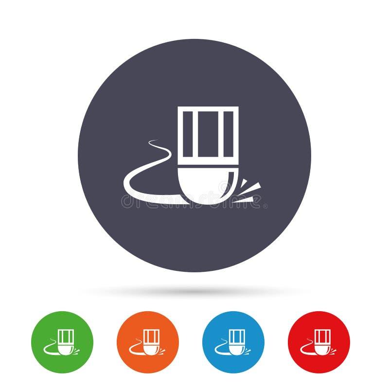 Gompictogram Wis het symbool van de potloodlijn royalty-vrije illustratie