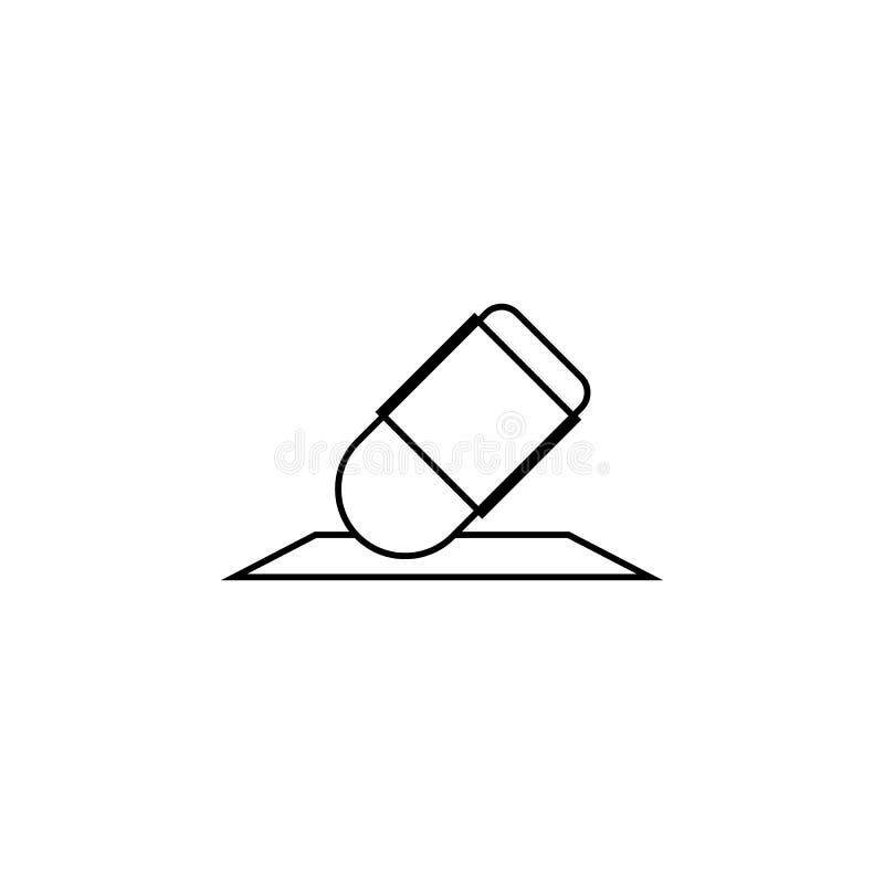 Gompictogram Wis het symbool van de potloodlijn Verbeter of geef tekening s uit vector illustratie