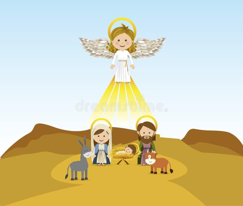 Gona anioł royalty ilustracja