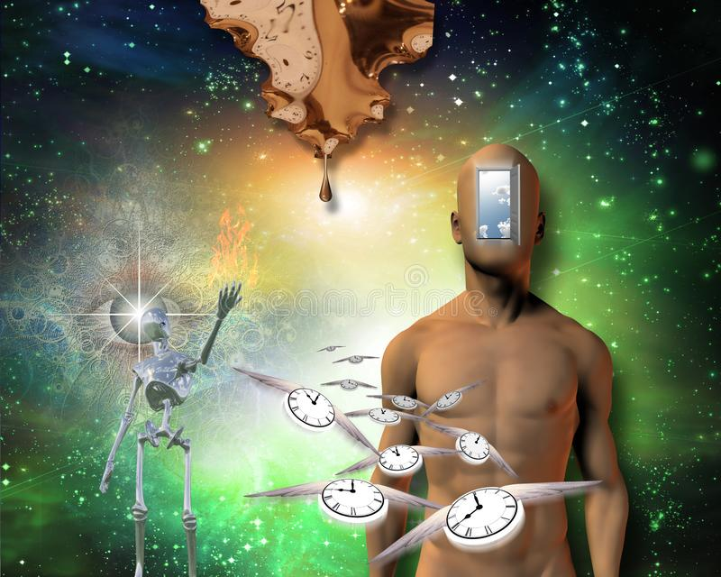 ?gonblick av skapelsen stock illustrationer