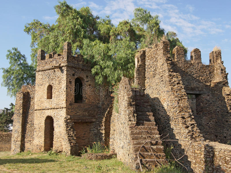 Gondar Etiopien, Afrika royaltyfri foto
