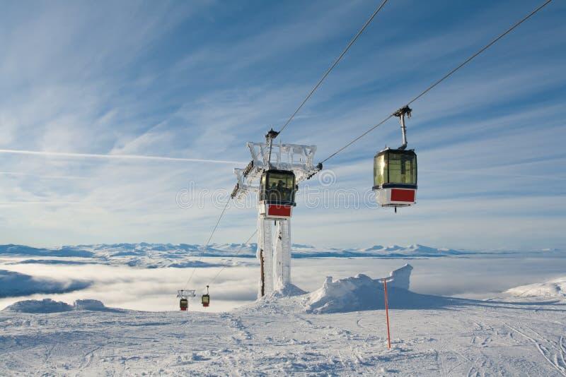 Gondel-Aufzug Schweden sind stockfoto