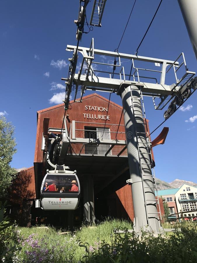 Gondel im Tellurid Colorado lizenzfreie stockfotos