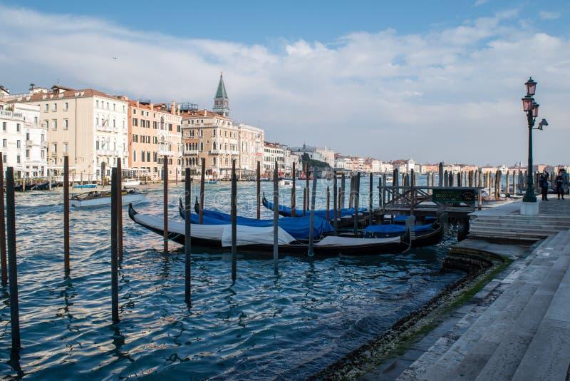 Gondel, Kanaal van Venetië, Italië royalty-vrije stock foto's