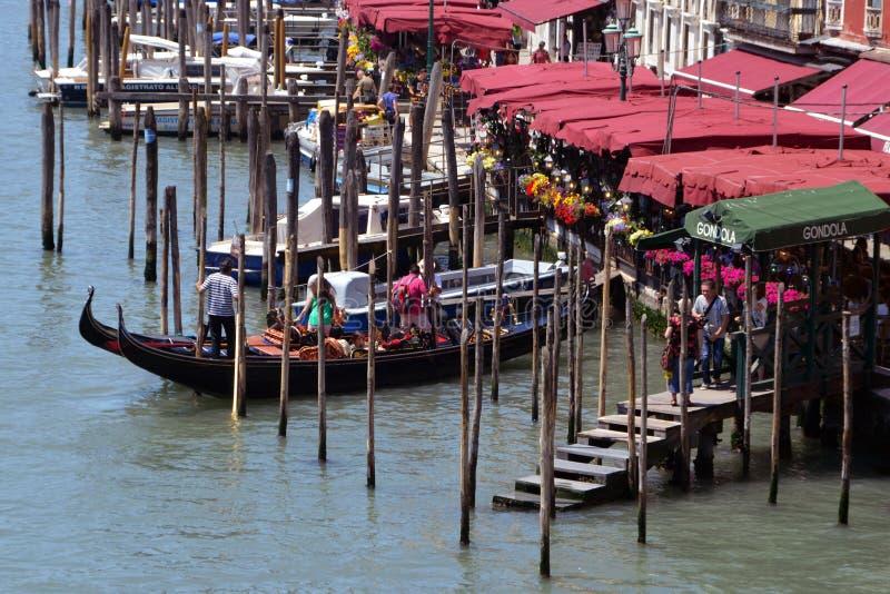 Gondel in Venedig stockbild