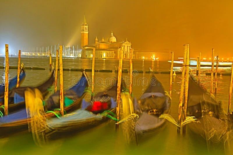 Gondel in Venetië; €ºvenice van San Giorgio Maggioreï¼ royalty-vrije stock fotografie