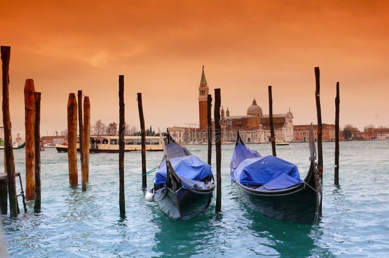 Gondel in Venetië stock foto's