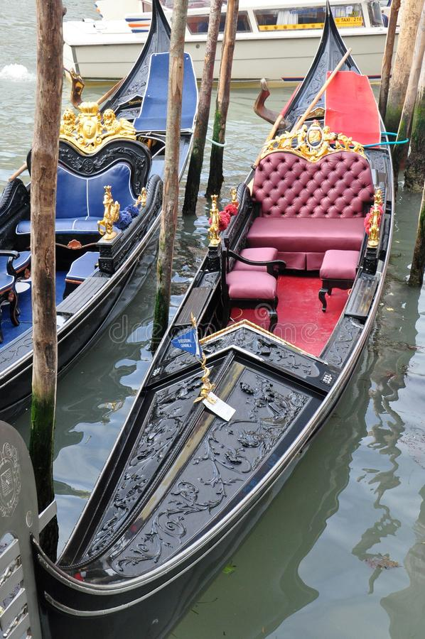 Gondelboot in Venetië, Italië royalty-vrije stock foto