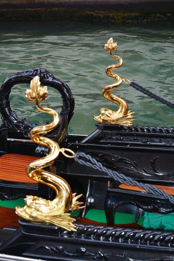 Gondeldetails, Venedig, Italien stockfotos
