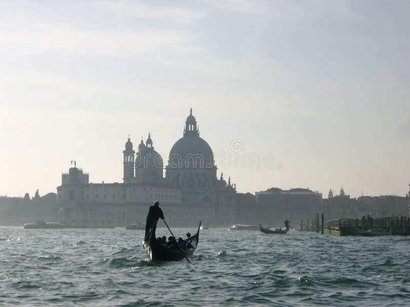 Gondelier in Venetië stock fotografie
