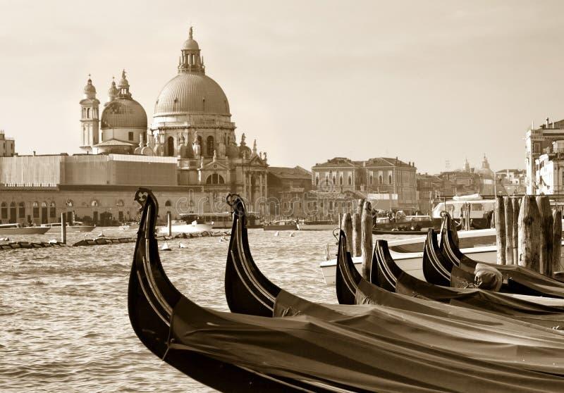 Gondeln bei San Marco, Venedig stockfoto