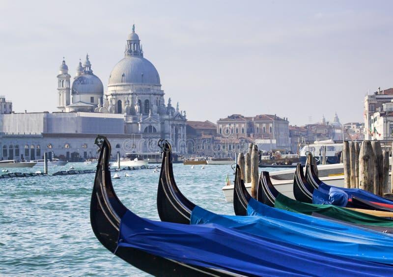 Gondels bij San Marco, Venetië stock afbeeldingen
