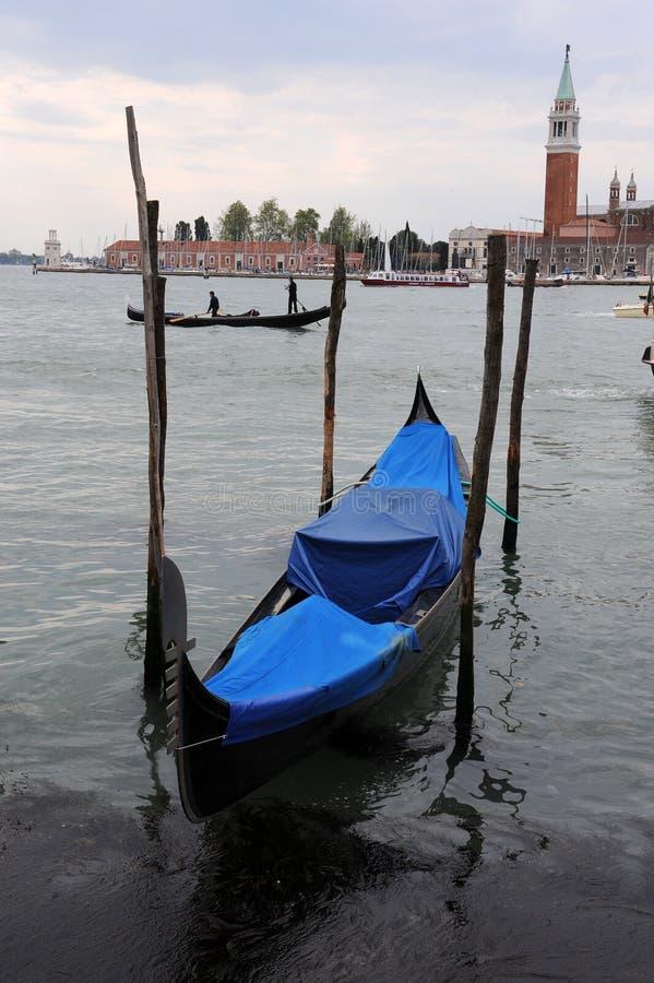 Gondels in Venetië, royalty-vrije stock fotografie