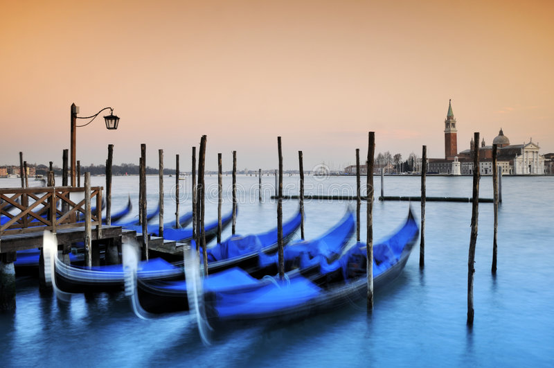 Gondels, Venetië stock afbeelding