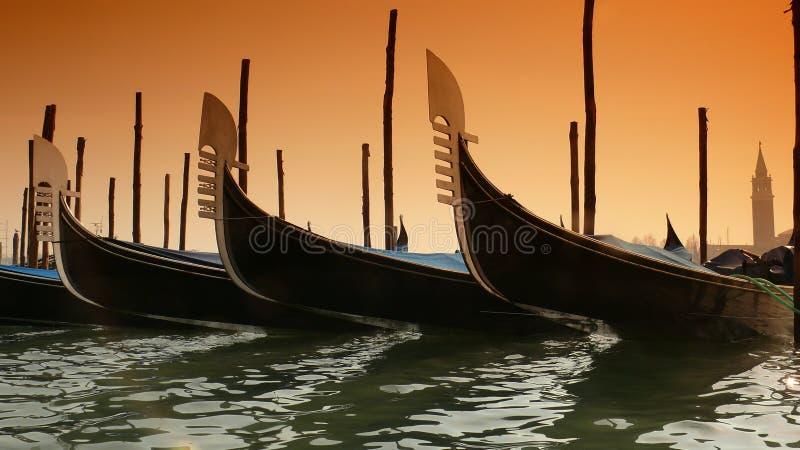 Gondels in Venetië