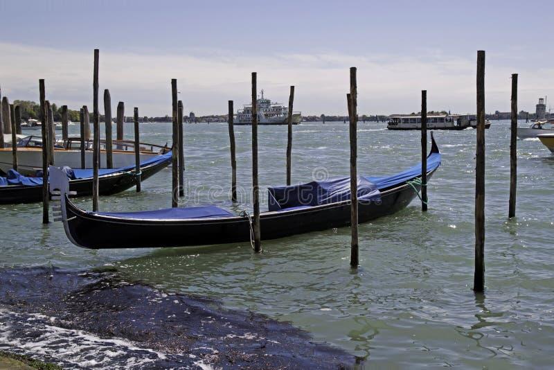 Gondels in Venetië, Italië royalty-vrije stock fotografie