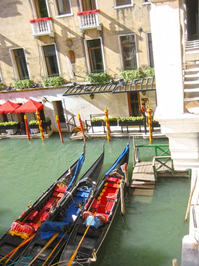 Gondels Venetië Italië royalty-vrije stock afbeeldingen