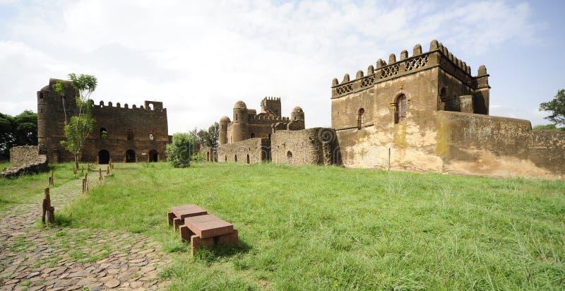 Gonder slott, Gondar, Etiopien arkivbilder