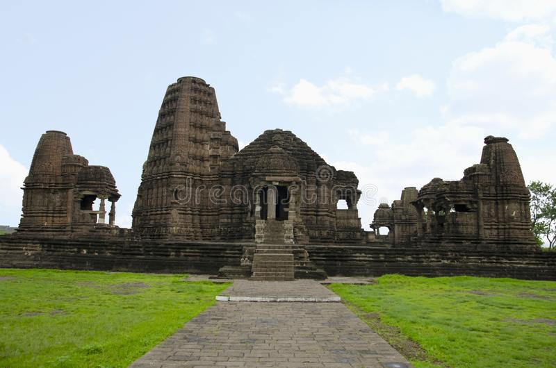 Gondeshwar寺庙,西纳尔,在纳西克附近,马哈拉施特拉,印度 免版税库存照片