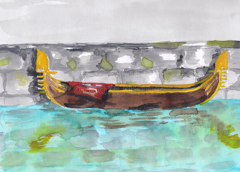 gondola ilustracja wektor