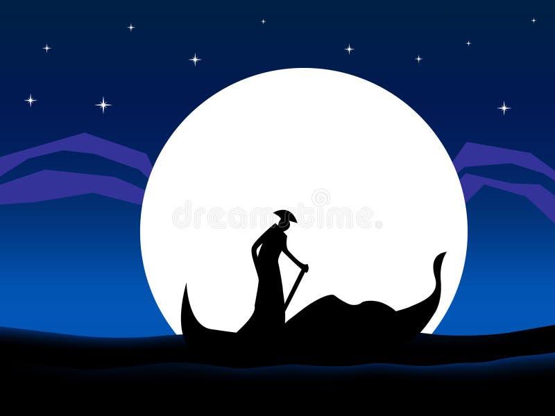 Download Gondola stock vector. Illustration of couple, star, silhouette - 2610307