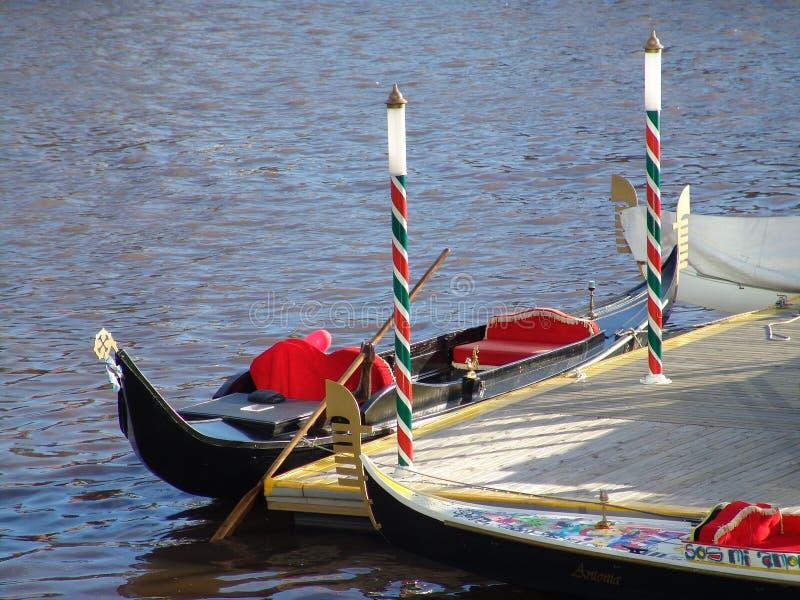 Gondola in Buenos Aires Puerto Madero. Gondola rides in the heart of Puerto Madero in Buenos Aires stock image