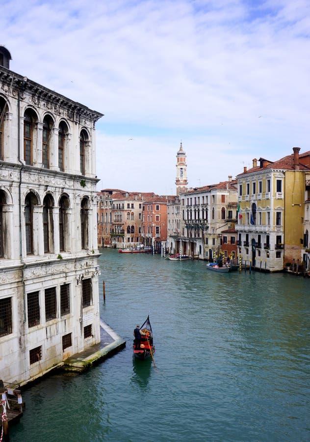 Gondola di Grand Canal fotografia stock libera da diritti