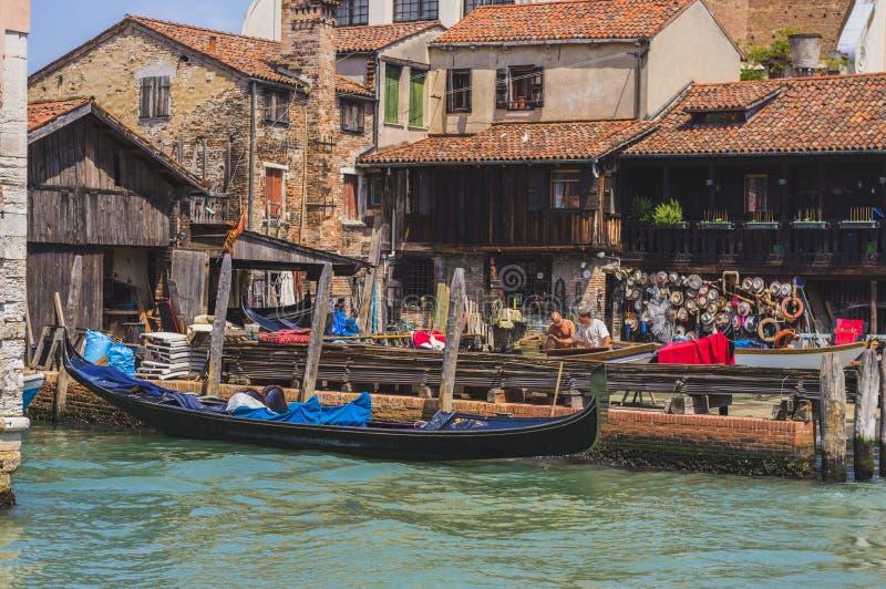 Gondola doku jard zdjęcie stock