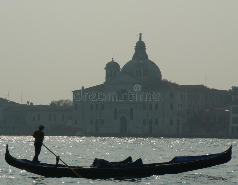 Gondola and Giudecca royalty free stock photography