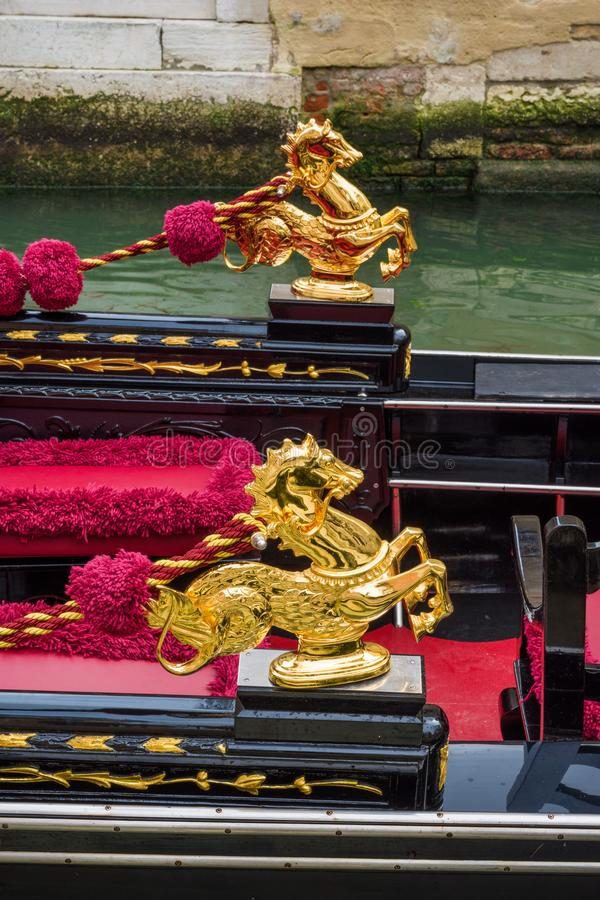 Gondola golden sea horse stock images