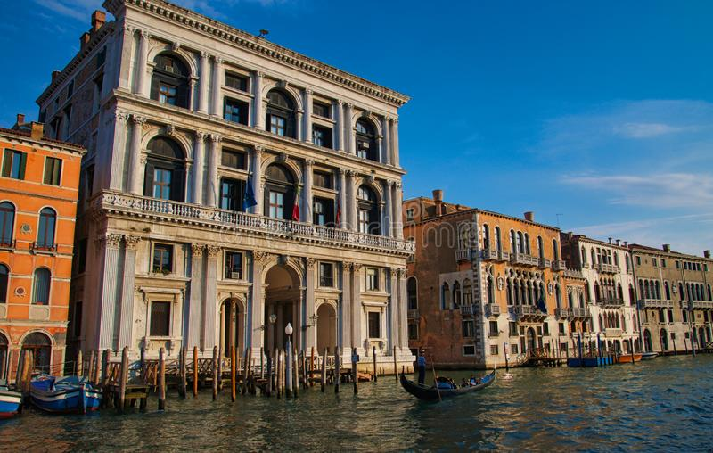 Gondola on the Grand Canal Venice stock images