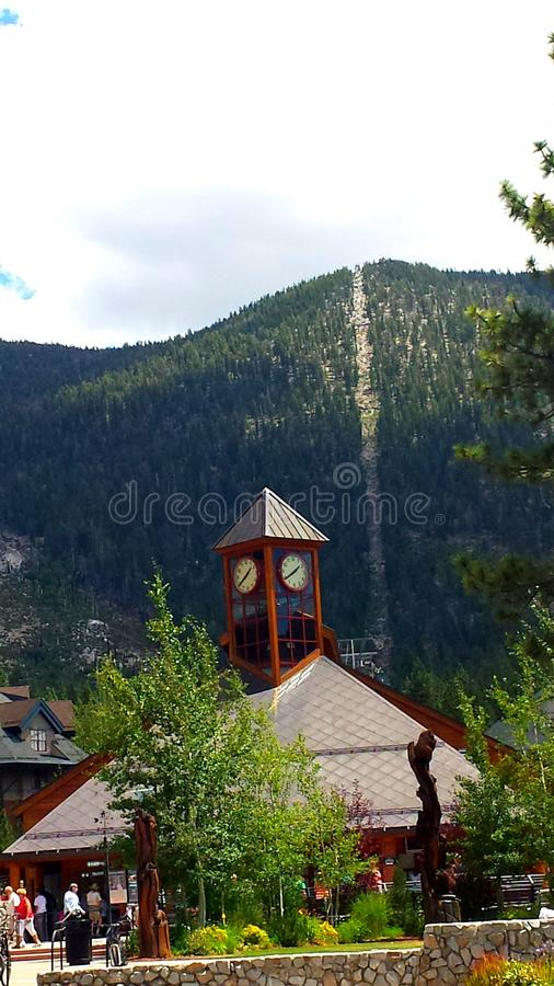 Gondola at heavenly peak royalty free stock photos